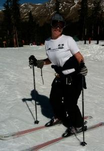 Also, I still appear not to have teeth. BTW, proper ski posture *does* make you look like you're taking a dump.